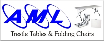 aml - blow moulded trestle tables and folding chairs